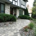 Brickstone Herringbone Pattern Adds Interest to this Front Entry