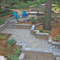 Landscape Design includes Retaining Walls and Pavers
