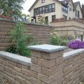 Tiered Retaining Walls Double as Planters