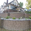 Tiered, Curving Retaining Walls