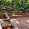 Stepped Retaining Walls for Plants, Seats and Stairs