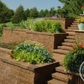 Tiered Retaining Walls and Matching Steps
