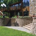 Raised Patio Created by Retaining Walls