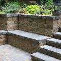 Hardscape with Retaining Walls and Paving Stones