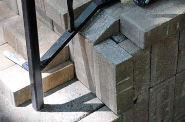 Precision cuts were made to accommodate the stair railings.